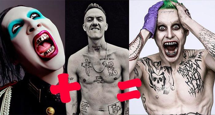 joker escuadron suicida inspiracion marilin manson tudor jones