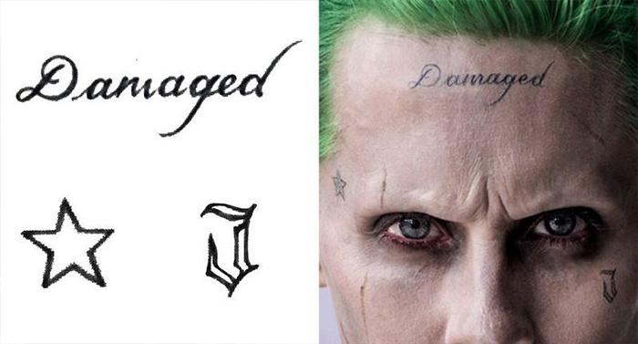 joker tatuaje damaged frente