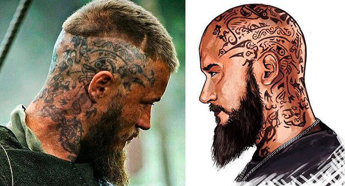 significado tatuajes ragnar serie vikings