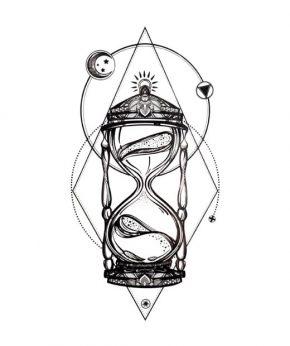 tatuaje temporal arena del tiempo feel tattoo