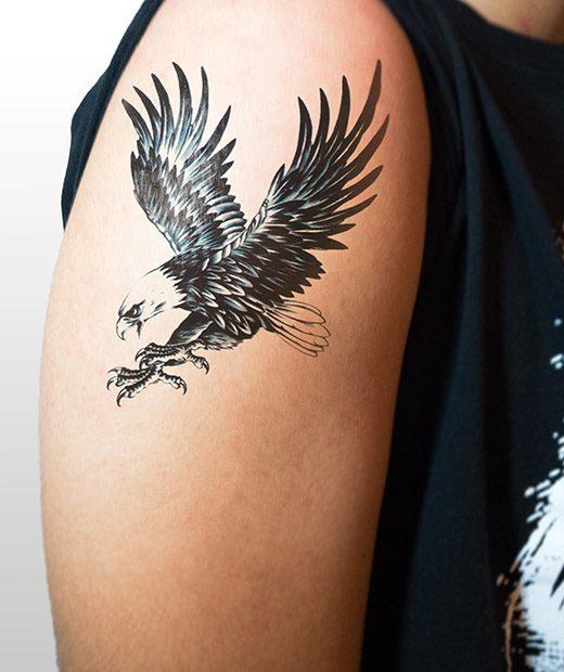 tatuaje temporal aguila modelo feel tattoo