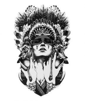 tatuaje temporal amerindia feel tattoo