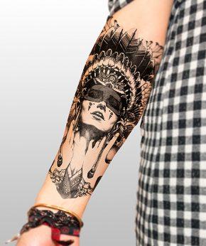 tatuaje temporal amerindia modelo feel tattoo