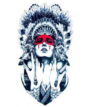 tatuaje temporal amerindia roja feel tattoo