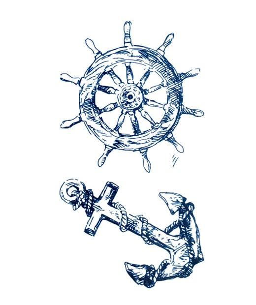 tatuaje temporal ancla timon feel tattoo