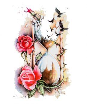 tatuaje temporal arena rosas feel tattoo