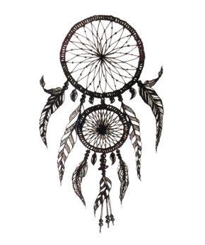 tatuaje temporal atrapasueños plumas feel tattoo