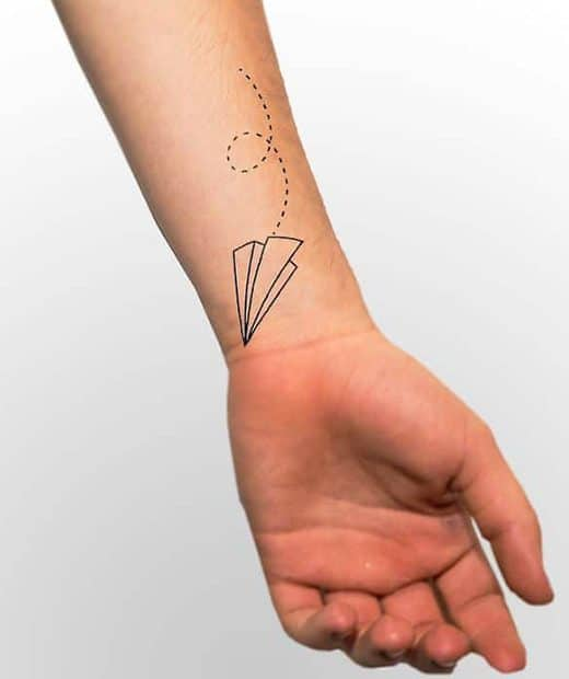 tatuaje temporal aviones papel modelo feel tattoo