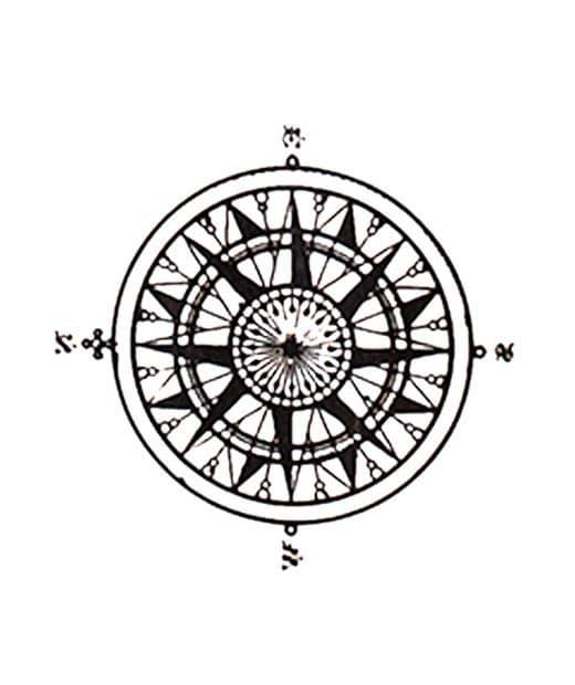 tatuaje temporal brujula feel tattoo