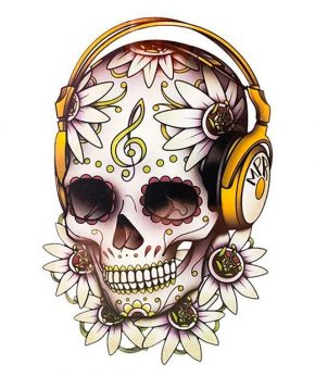 tatuaje temporal calavera dj feel tattoo