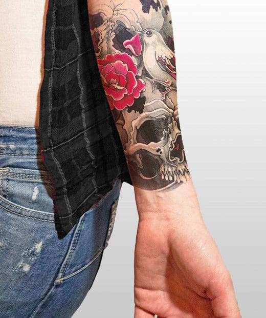 tatuaje temporal calavera exotica modelo feel tattoo