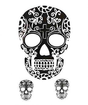 tatuaje temporal calavera mexicana feel tattoo