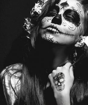 tatuaje temporal calavera mexicana modelo feel tattoo