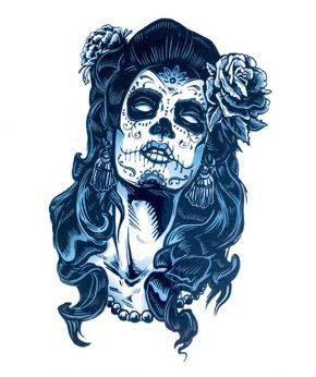 tatuaje temporal catrina mexicana feel tattoo
