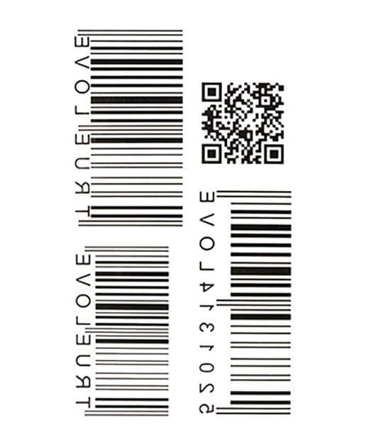 tatuaje temporal codigo de barras feel tattoo