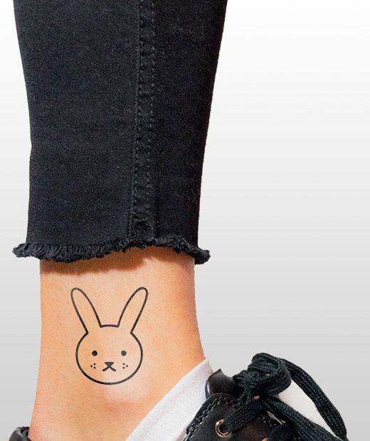 tatuaje temporal conejito modelo feel tattoo