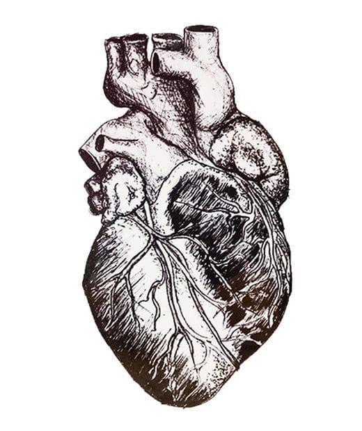 tatuaje temporal corazon realista feel tattoo