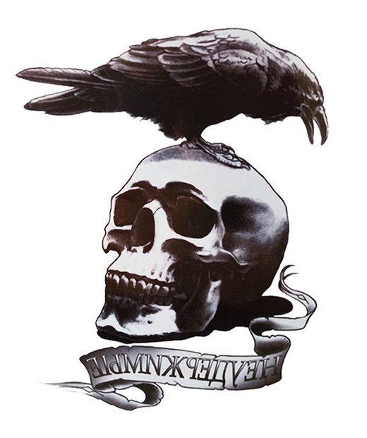 tatuaje temporal cuervo feel tattoo