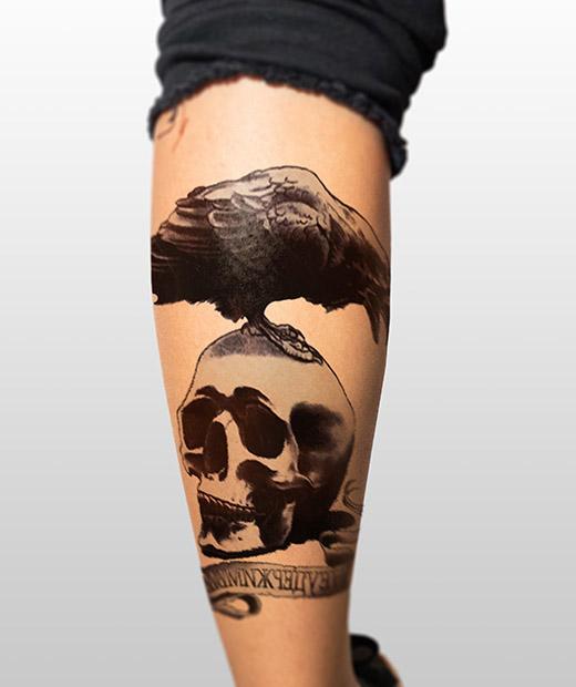 tatuaje temporal cuervo modelo feel tattoo