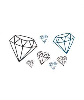 tatuaje temporal diamantes feel tattoo