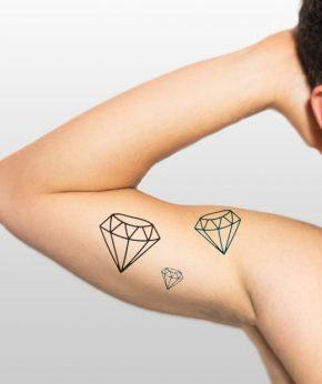 tatuaje temporal diamantes modelo feel tattoo