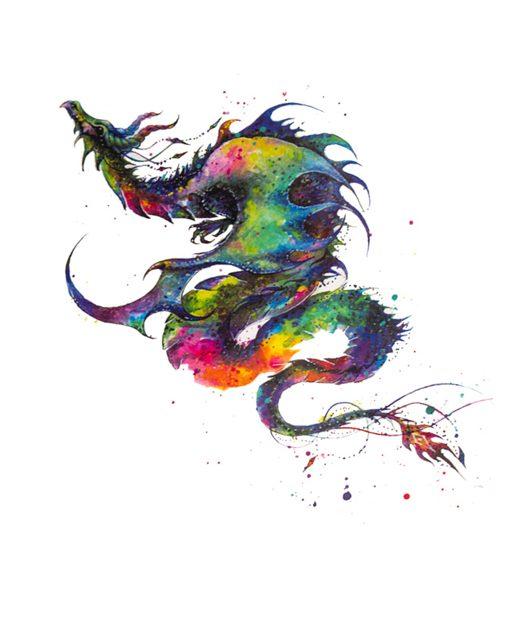 tatuaje temporal dragon acuarela feel tattoo