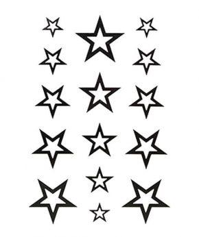 tatuaje temporal estrellas blancas feel tattoo