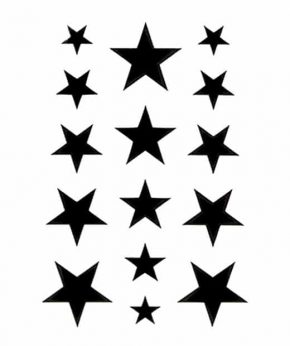 tatuaje temporal estrellas negras feel tattoo