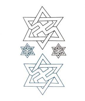 tatuaje temporal estrellas seis puntas feel tattoo