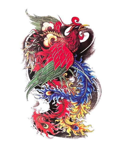 tatuaje temporal fenix feel tattoo