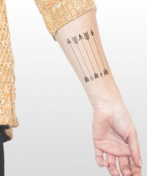 tatuaje temporal flechas modelo feel tattoo
