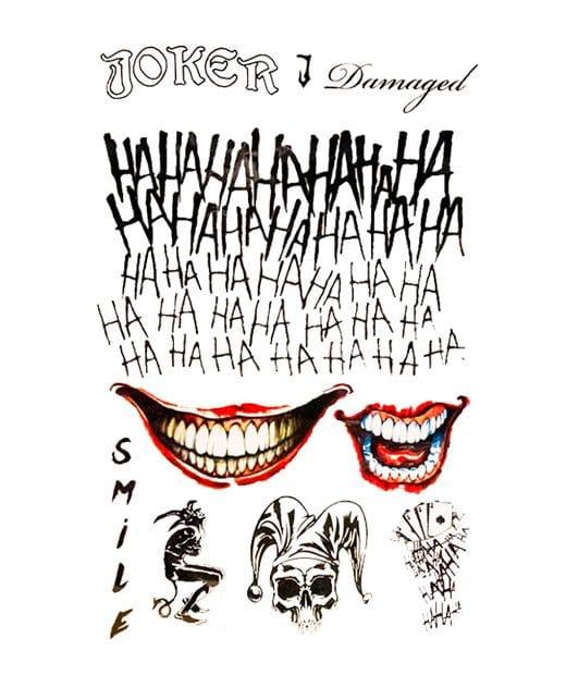 tatuaje temporal joker feel tattoo