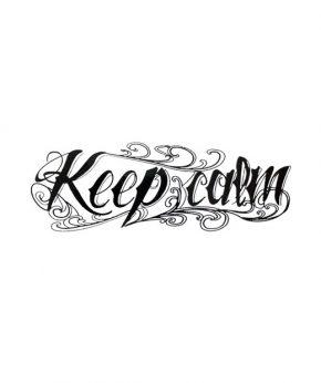 tatuaje temporal keep calm feel tattoo