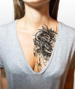 tatuaje temporal leon modelo feel tattoo