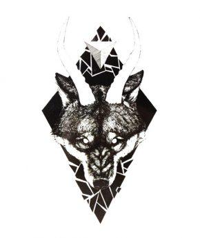 tatuaje temporal lobo ira feel tattoo