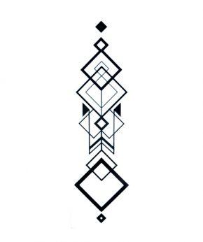 tatuaje temporal magna geometric feel tattoo