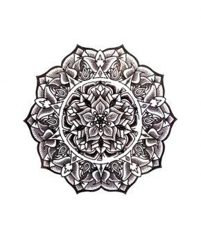 tatuaje temporal mandala harmony feel tattoo