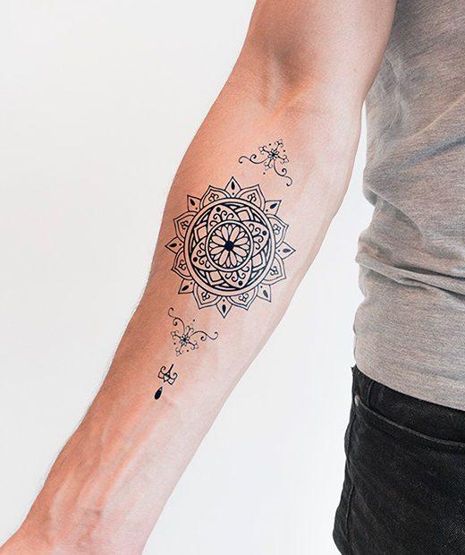 Tatuaje Temporal Mandala Margarita Feel Tattoo