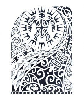 tatuaje temporal maori tortuga solar feel tattoo