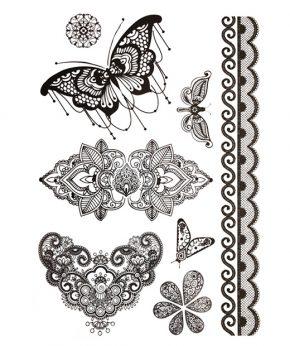tatuaje temporal mariposa rosal feel tattoo