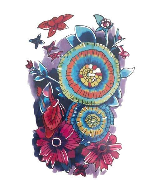tatuaje temporal pandora floral feel tattoo