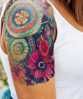 tatuaje temporal pandora floral modelo feel tattoo