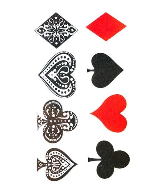 tatuaje temporal poker feel tattoo