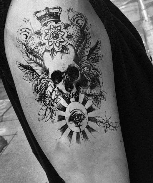 Tatuaje Temporal Rey Calavera Feel Tattoo