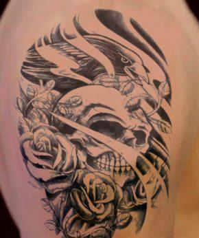tatuaje temporal rey cuervo modelo feel tattoo