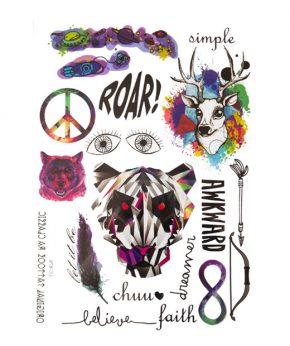 tatuaje temporal roar feel tattoo