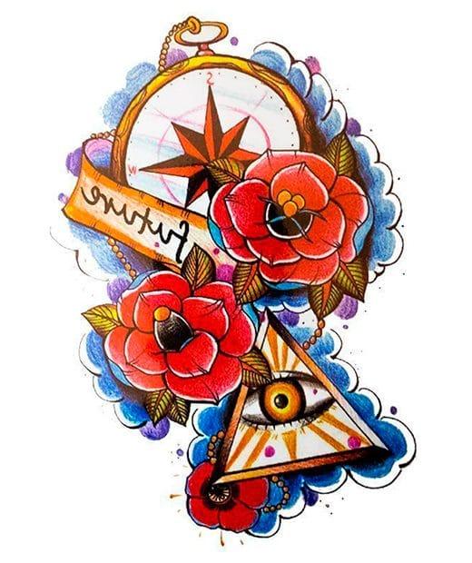 tatuaje temporal rosas feel tattoo