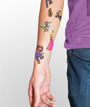 tatuaje temporal super mario modelo feel tattoo
