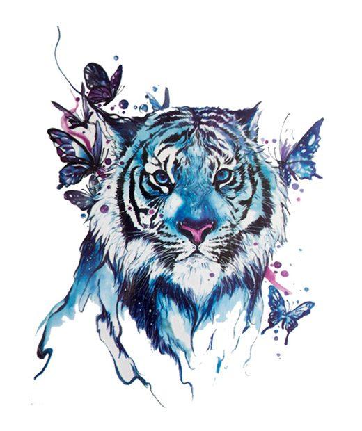 tatuaje temporal tigre del cosmos feel tattoo