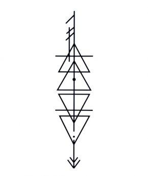 tatuaje temporal triangle direction feel tattoo